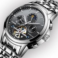 Top Luxury Brand LIGE 2019 New Men's Automatic Mechanical Watch Men Full Steel Business Waterproof Sport Watch Relogio Masculino
