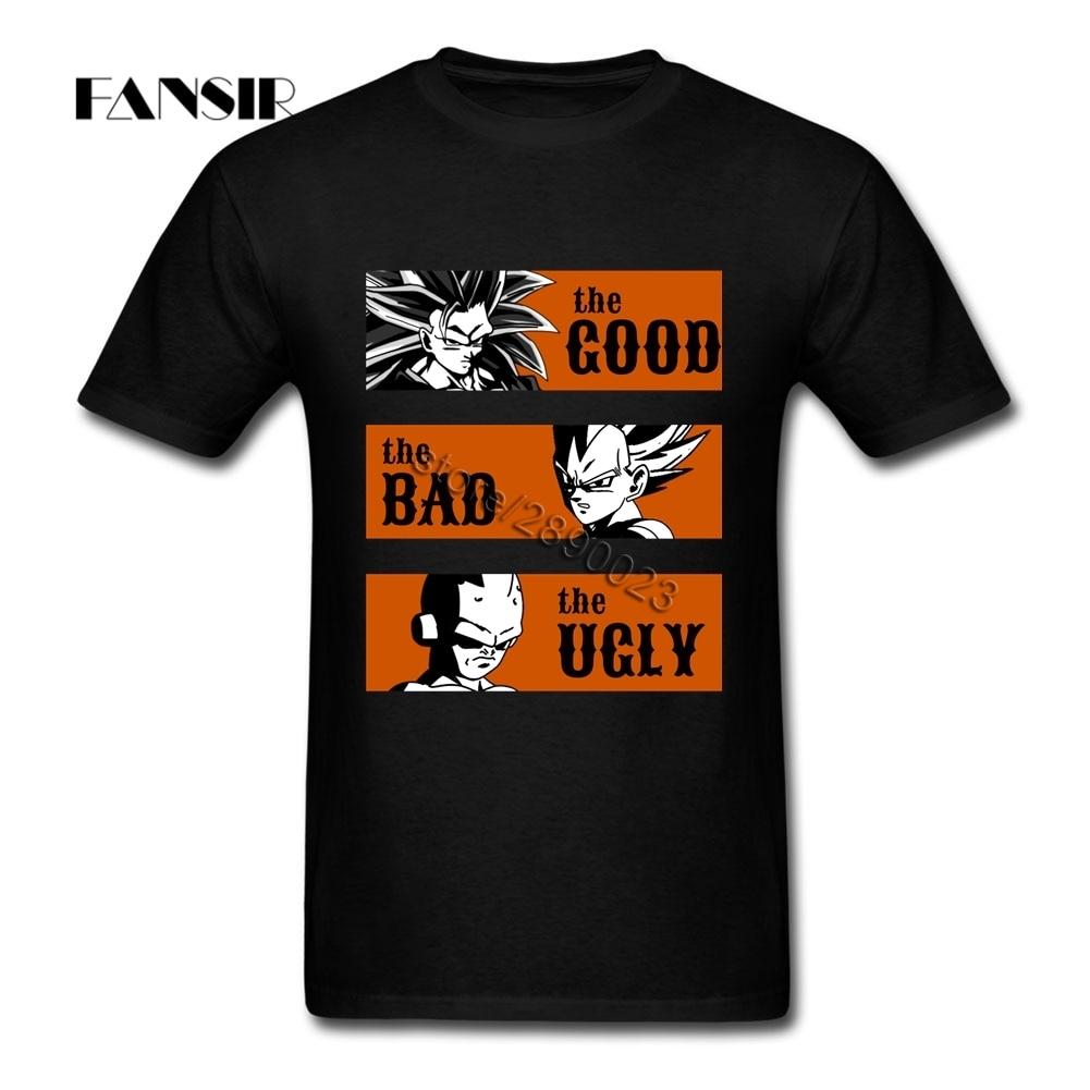 Cool De Goede De Slechte De Lelijke Dragon Ball T-shirt Mens wit Korte Mouw Custom Mannen T-shirt Camisa Masculina Plus Size