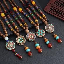 2019 nouvelle plaque ronde népal fleur pendentif ethnique collier egypte éléphant collier noix de coco perles collier chandail colliers