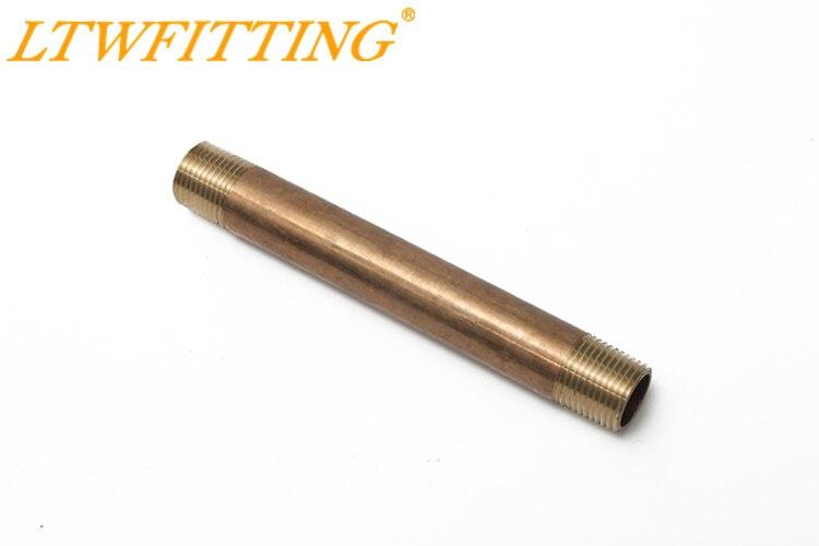 """Tubulação de Bronze 6 LTWFITTING """"de Comprimento Mamilos Conexão 3/4"""" Macho NPT Ar Água"""