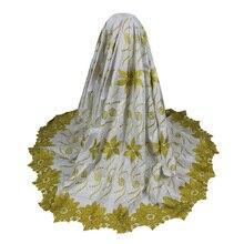 Bazin, Riche tissu en dentelle, gracieux et brodé   Tissu damassé, Brocade de guinée, tissu Jacquard, bon marché, 5 yards W16120905
