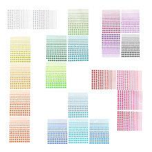 4950pcs 5 Sizes Colorful Rhinestones for nails 22 Sheets self-adhesive rhinestone Stickers gems halloween decor strass