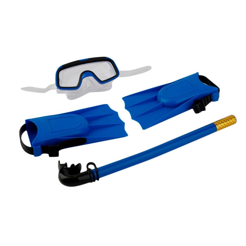 1 Set de máscara de buceo snorkel tubo de respiración aletas largas aletas para el pie 3 uds Snorkels Set piscina nuevo equipo de entrenamiento