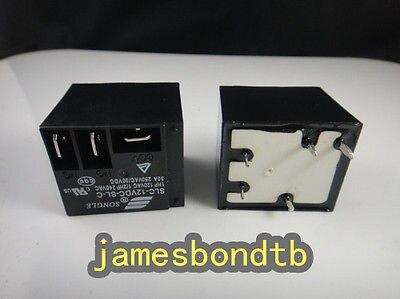 10pcs T91 SLC-5VDC-SL-C 5pin Black Electrical PCB Power Relay 30A 250VAC