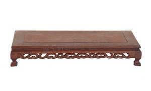 Mahogany Wood Carving Handicraft Furnishing Articles Base Wenge Flowerpot Shelf of Buddha Mammon Base
