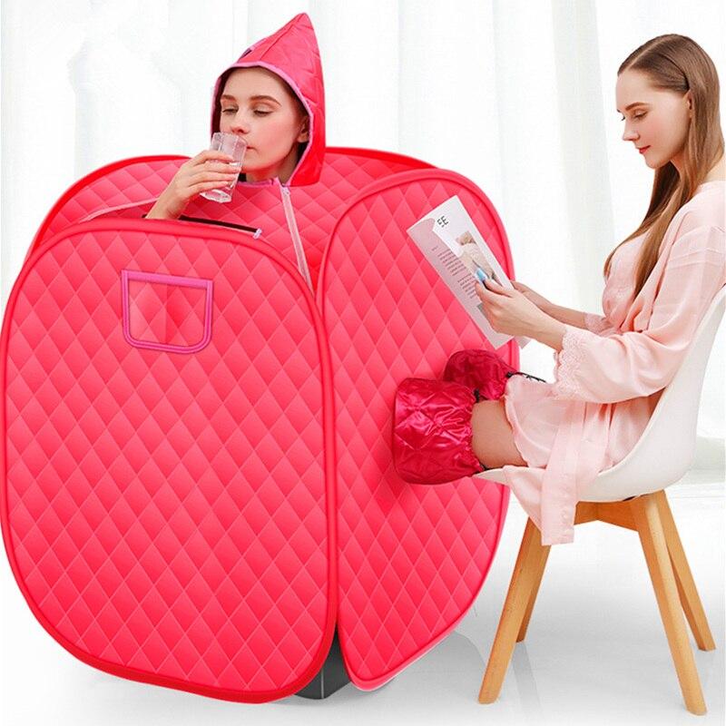 SAUNA de vapor, baño, cabina de vapor de vida, Sauna portátil, terapia de desintoxicación, máquina de desintoxicación, silla plegable, cabina de Ducha