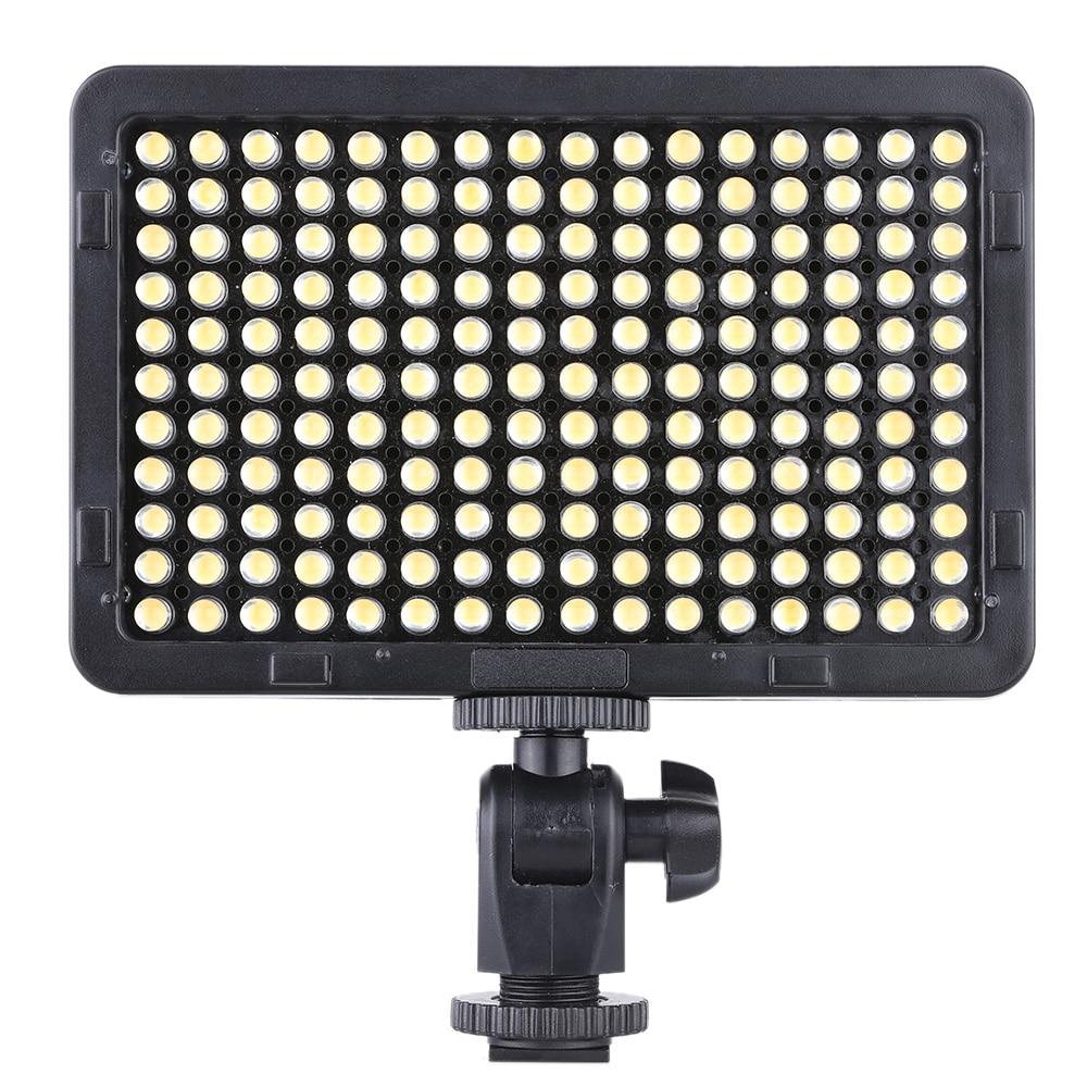 Luz de estudio de fotografía de vídeo portátil Panel de lámpara 176 LEDs 5600K para Canon Nikon Pentax Olympus videocámara DSLR Cámara