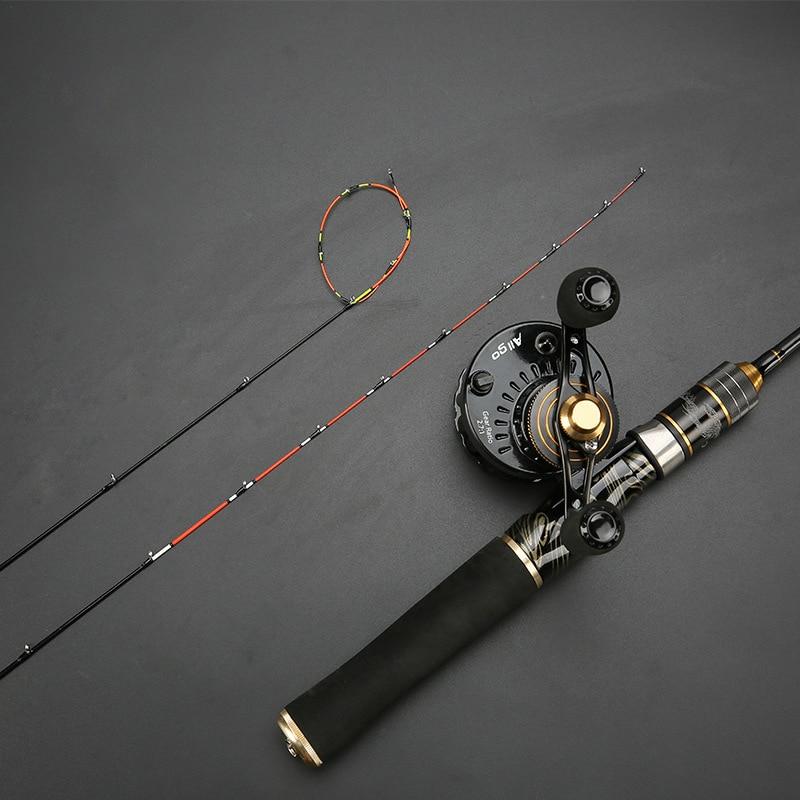 Aleación de titanio ligeramente balsa sólida punta suave micro plomo balsa caña de pescar telescópica varilla de viaje se niega a pegar envío gratis