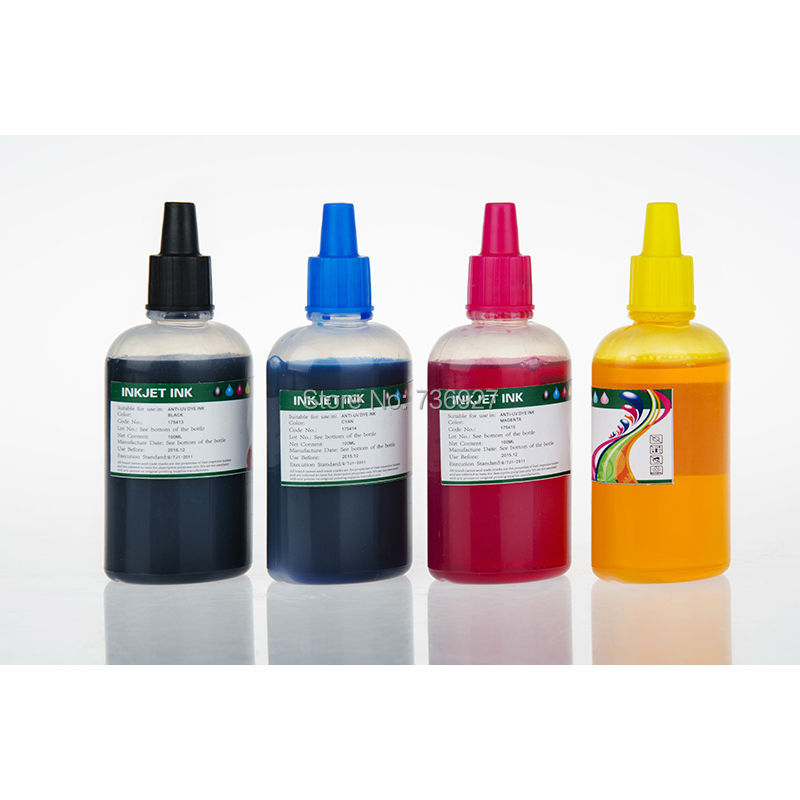 4X 100ml PGI-5 CLI-8 PGI5 CLI8 Refill Dye ink for Canon PIXMA iP3300 iX4000 iX5000 MP500 MP510 MP530 inkjet printer