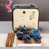 Gift Box Tea Set Teapot Teacups Gaiwan Chinese Kung Fu Teaware Sets Portable Teaset Ceramic Gaiwan Set Master Teapot