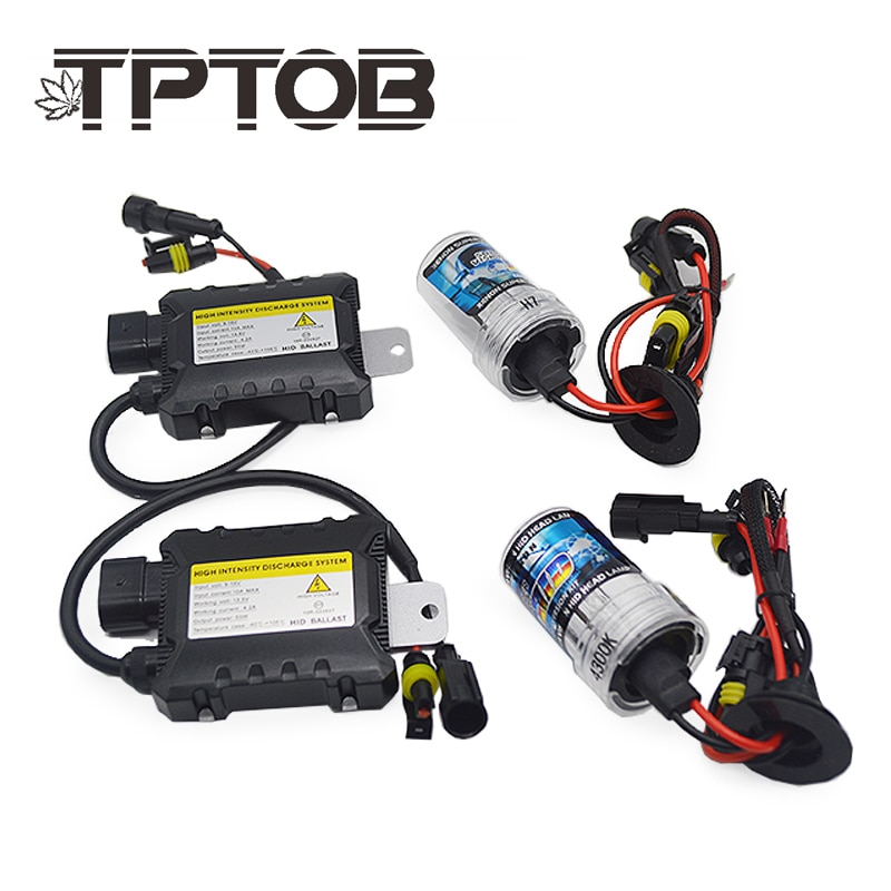 TPTOB 35 W 55 W Slim נטל ערכת HID קסנון אור הנורה 12 V H1 H3 H7 H11 9005 9006 4300 k 6000 k 8000 k אוטומטי קסנו פנס מנורה