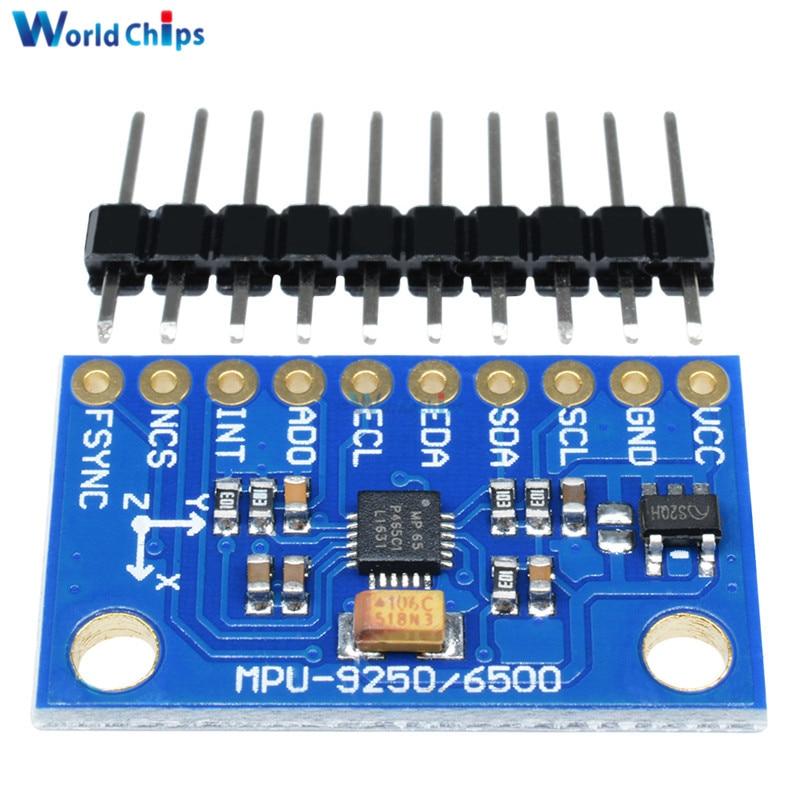 GY-6500 MPU-6500 Sensor de 6 ejes giroscopio Módulo de Sensor de aceleración SPI/CII I2C interfaz MPU6500 para arduino