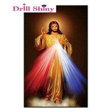 Peinture 5D au point de croix strass   Bricolage, peinture collée, broderie de diamant carré complet, icône de religion dieu