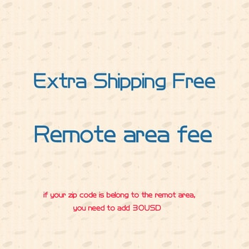 For the buyers about the remote area cost and Extra Shipping Fee (can adjust the units when you make the order)