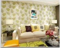 beibehang nonwoven fashion personality leaf bedroom warm wall paper tv background simple papel de parede wallpaper papier peint