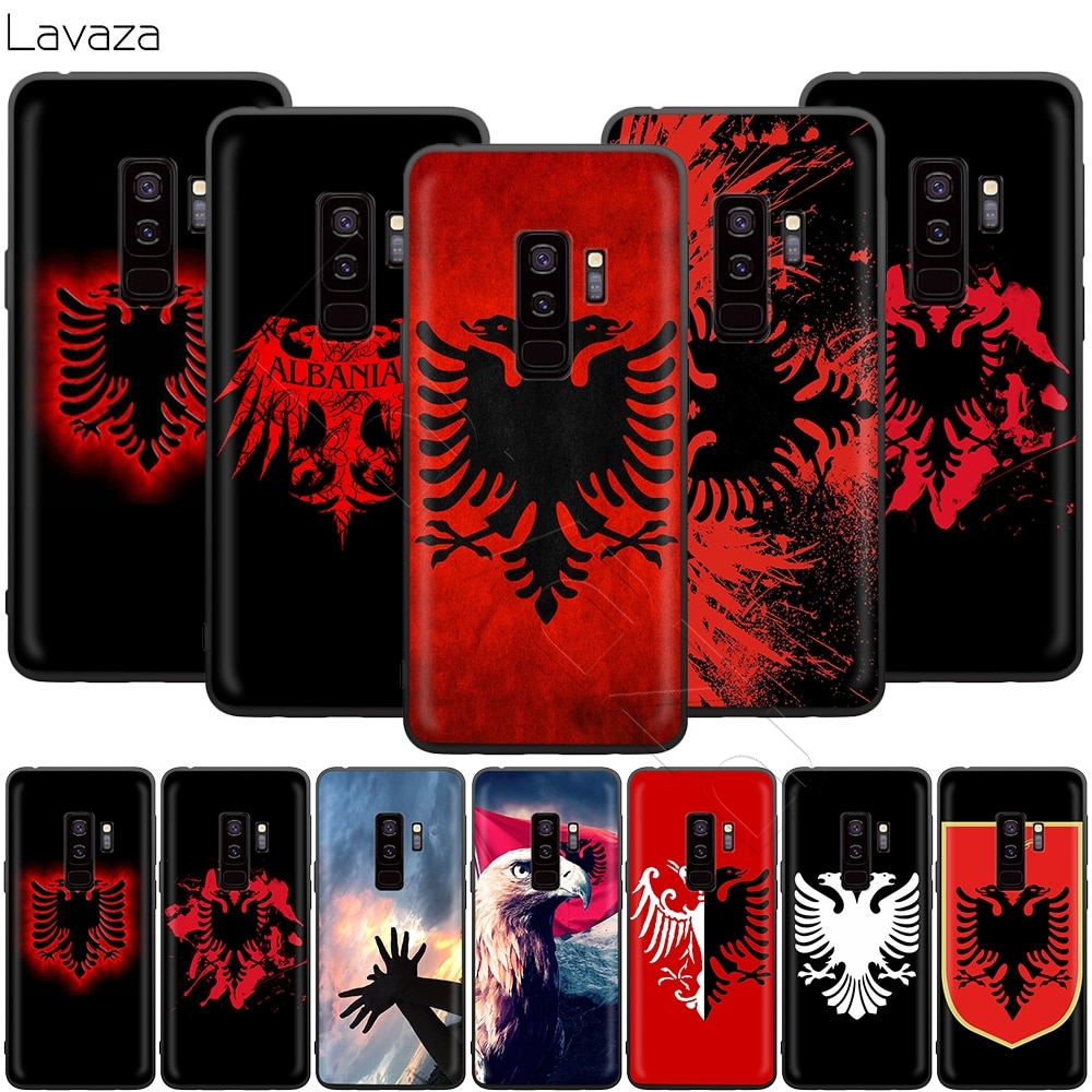 Retro Al Bandera de Albania águila caso para Samsung Galaxy S20 S10 S9 S8 S7 S6 Plus Nota 9 8 M30 M20 M10 borde Lite Ultra