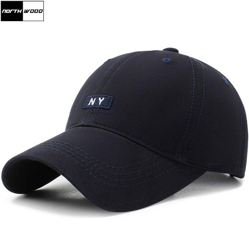 [NORTHWOOD] 2019 Katoen NY Letters Baseball Snapback Hoed Voor Mannen Vrouwen Zonnehoed Bone Gorras NY Vader hoeden Zomer Cap
