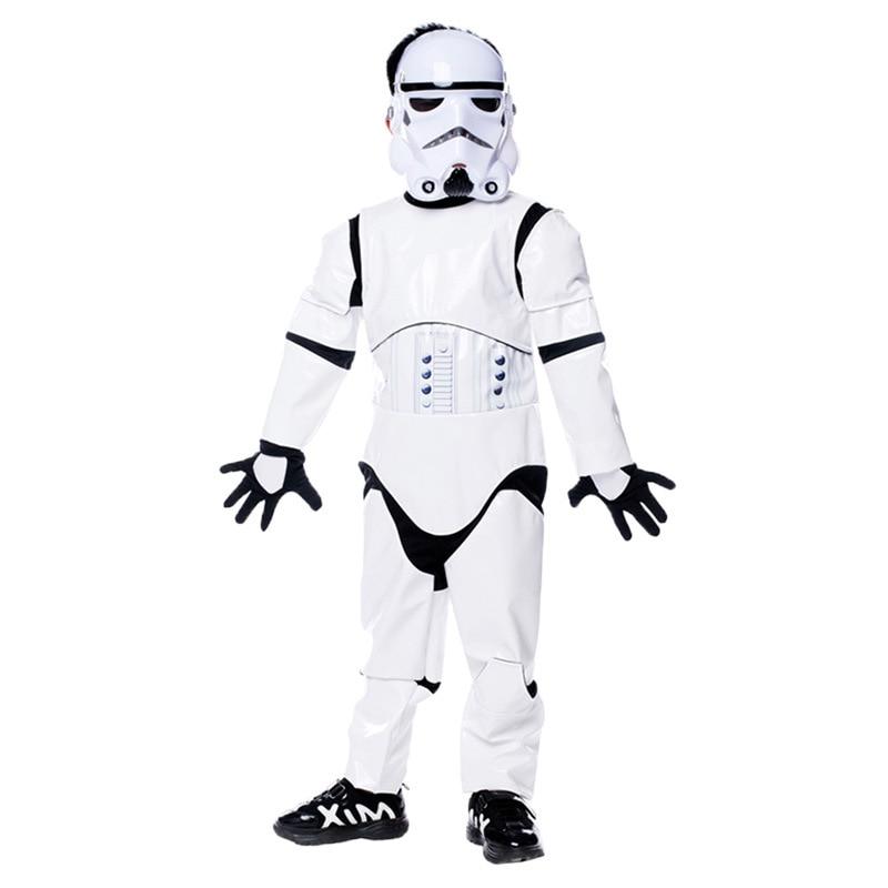 Película Star Wars Empire Comando Soldados Blancos Cosplay Niños Niño Disfraz de Carnaval de Halloween Fiesta Imperial Stormtrooper Disfraz Disfraz de Halloween para niños Star Wars Force Awaken Empire Stormtroopers Di