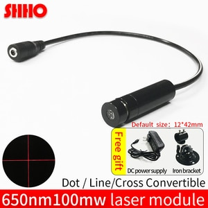 650nm 100mw Red Cross/Line/dot Laser module line width adjustable Industrial class Positioning Production Marking Free shipping