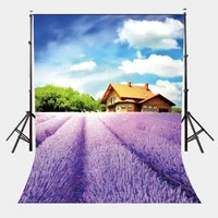 5x7ft beuatiful natural scene backdrop ultra violet lavender garden photography background spring outing photo props