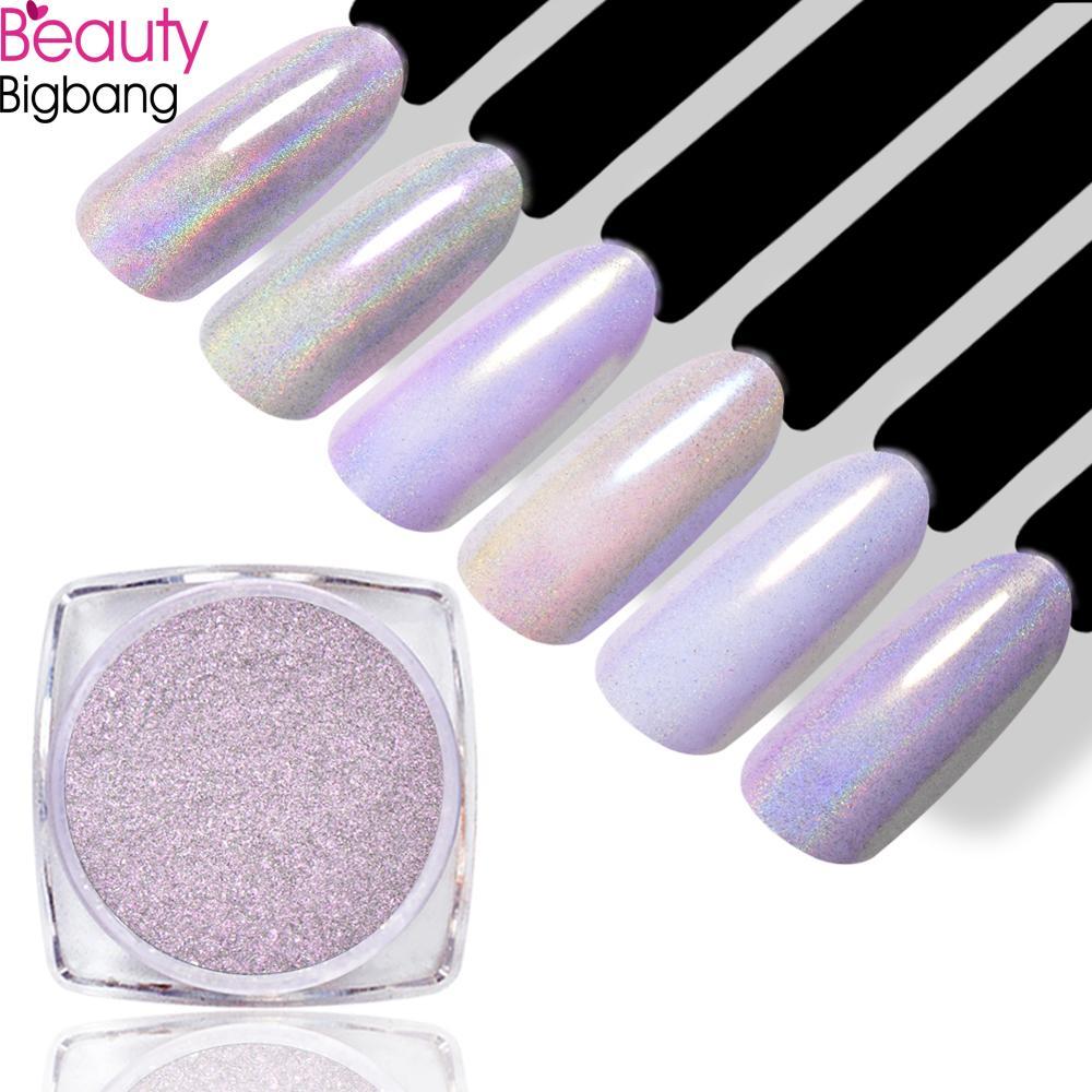 12 colores BEAUTYBIGBANG 0,2g brillo de camaleón sirena perla pigmento de brillo de uñas brillante láser Shell brillo en polvo
