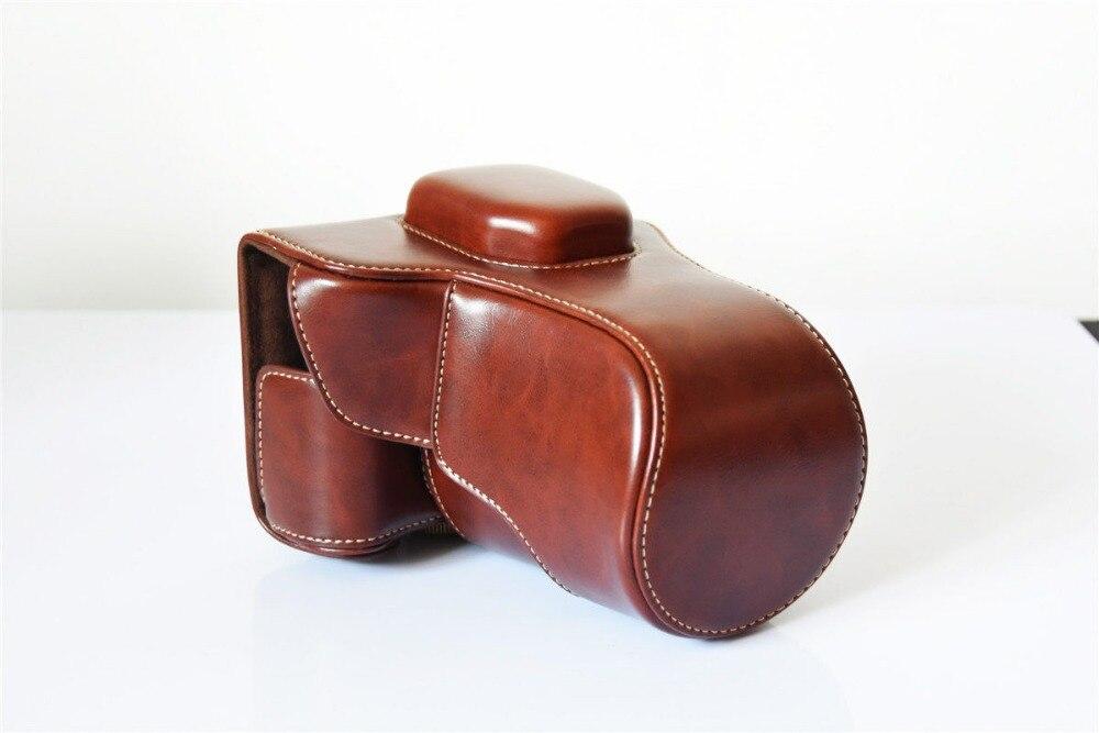 New Leather Camera Case Capa Bag Para Fuji FujiFilm X-T10 XT10 18-55/16-50mm Lens