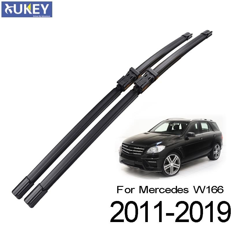 "Xukey 2 pçs/set Frente Pára Wiper Blades Para Mercedes-Benz ML GLE 250 350 400 550 63 43 W166 2011-2019 26 ""24"""