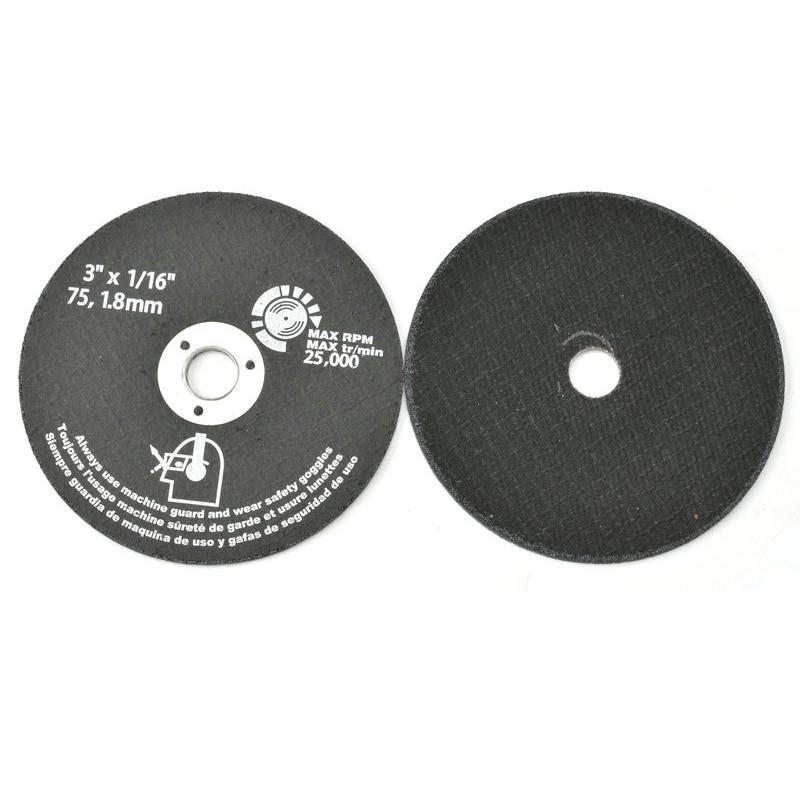 "10 unidades 3 ""75mm discos de corte de resina abrasiva rueda de molienda fresa para Metal"