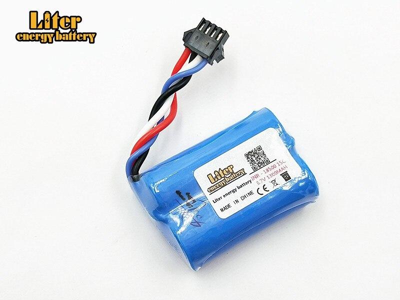 20 pièces/lot 3.7V 1300mAh Li-ion batterie vous Di UDI001 huanqi 960 2.4G télécommande bateau hors-bord 18500 batterie au lithium