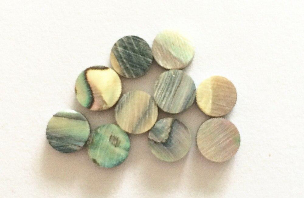 ¡Nuevo! 100 Uds. Material con incrustaciones de abulón colorido, puntos de abulón de 6mm de diámetro