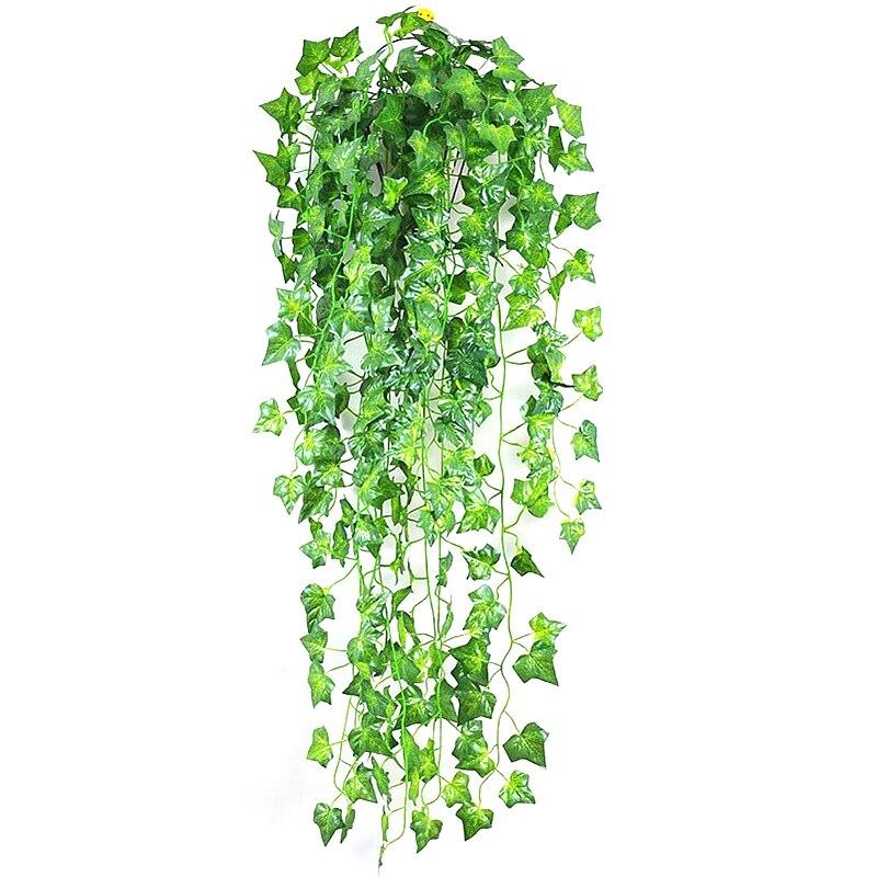 210cm sztuczne rośliny zielone wiszące liście bluszczu rzodkiewka wodorosty winogron sztuczne kwiaty winorośli Home Garden party dekoracje świąteczne