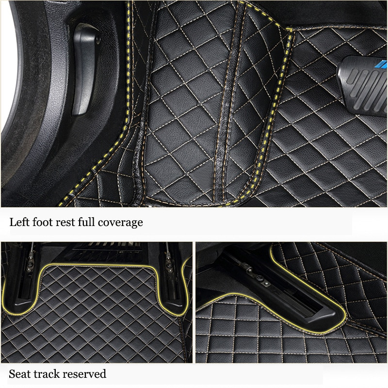 kalaisike Custom car floor mats for Volkswagen All Models polo golf tiguan Passat jetta touran touareg vw Phaeton car styling enlarge
