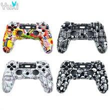 YuXi Ersatz Für Sony PS4 UNS Version Controller Kunststoff JDM 001 010 Abdeckung Vorderseite Rückseite Gehäuse Shell Fall