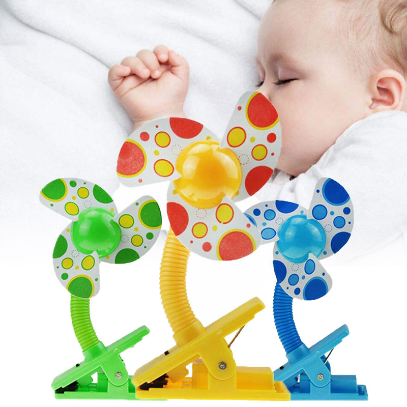 Niños creativos, lindos, prácticos, portátiles, cuna de bebé, Clip, ventilador para cochecito, Cochecitos de bebé, silla de paseo, Clip de seguridad, accesorio para cochecito