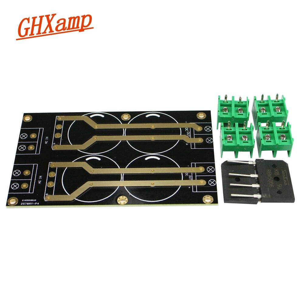 Campana GHXAMP 1969 Doble potencia, tablero de suministros Diy, tablero rectificador de doble puente, 2,0 MM de espesor, placa de inmersión dorada, 1 pieza