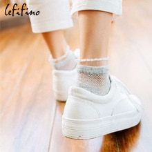 Summer Japanese Princess Sock Transparent Lace Hollow Mesh Breathable Summer Fashion Pink Socks Cotton Ankle Socks Le66140