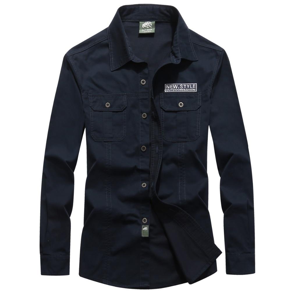 2019 nueva primavera AFS camiseta jeep hombres camisa masculina marca militar hombres camisa de manga larga chemise homme casual camisa de vestir