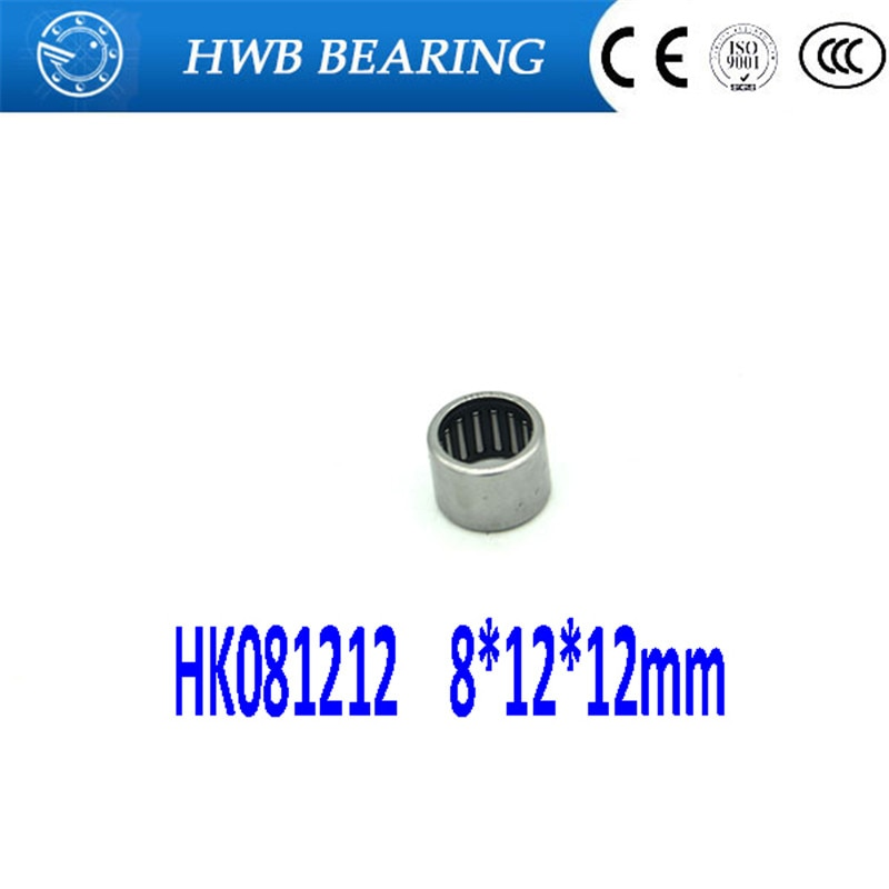 10Pcs HK081212 HK0812 67941/8 Drawn Cup Type Needle Roller Bearing 8 x 12 x 12mm Free shipping High Quality