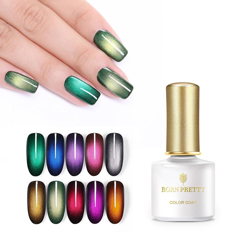 BORN PRETTY 6ml Glamorous Magnetic UV Gel Nail Polish Soak Off Nail Art Gel Varnish  Supplies Black Based Need