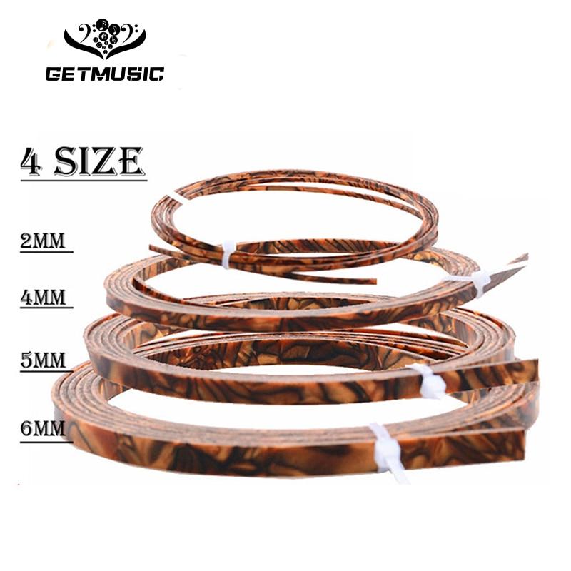 10pcs Colorful Celluloid 6/5/4/2 mm Width Guitar Binding Purfling 5 Feet Length Tiger Pearl