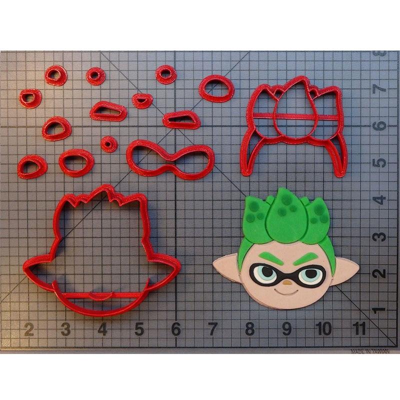 Cute Splatoon Inkling boy girl calamar galleta cortador fondant 3d-imprimir galletas cortadores moldes pastel sello
