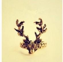 Womens Fashion Retro Vintage Deer Antlers Tail Ring 8RD113