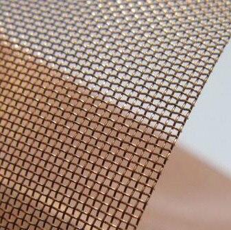 Malla de alambre de cobre (malla 40), malla de filtro de cobre 50cm * 100cm suministro de puntos
