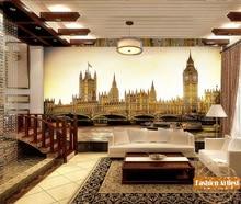 Papier peint personnalisé pont londres royaume-uni   Grand horloge Ben tour des maisons du parlement canapé chambre à coucher salon café bar restaurant