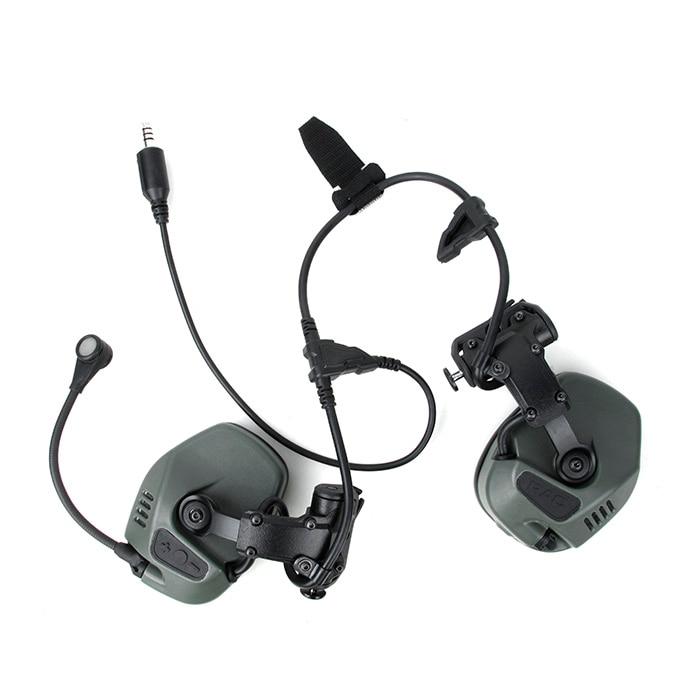 TMC RC comunicación táctica marítima auriculares protección auditiva reducción de ruido ajuste ARC Rail System(SKU051230)