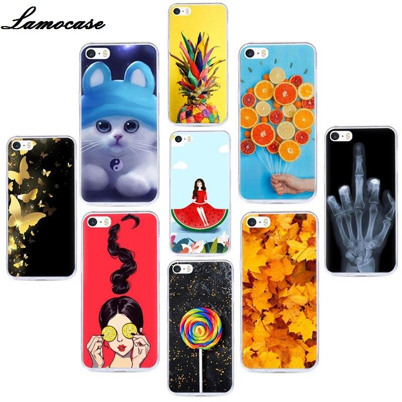 Funda de teléfono para iPhone 4 4S, funda de silicona de goma resistente para iPhone 4 S 4G 4, funda protectora con dibujo Floral de animales