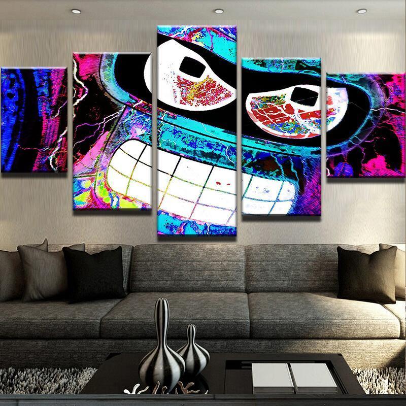 WALL Decor HD Print 5p ABSTRACT BENDER CANVAS SET Wall Art Painting Home Decor