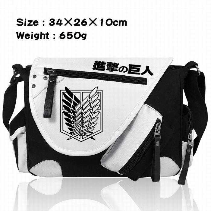 Сумки-мессенджеры из японского аниме Attack on Titan Shingeki no Kyojin, Холщовая Сумка на плечо, школьные сумки с рисунком, сумка-мессенджер