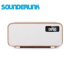 Беспроводной динамик Sounderlink Neus в стиле ретро, деревянный, Bluetooth, умный ТВ, домашний кинотеатр, мощный домашний динамик, бумбокс, часы для спал...