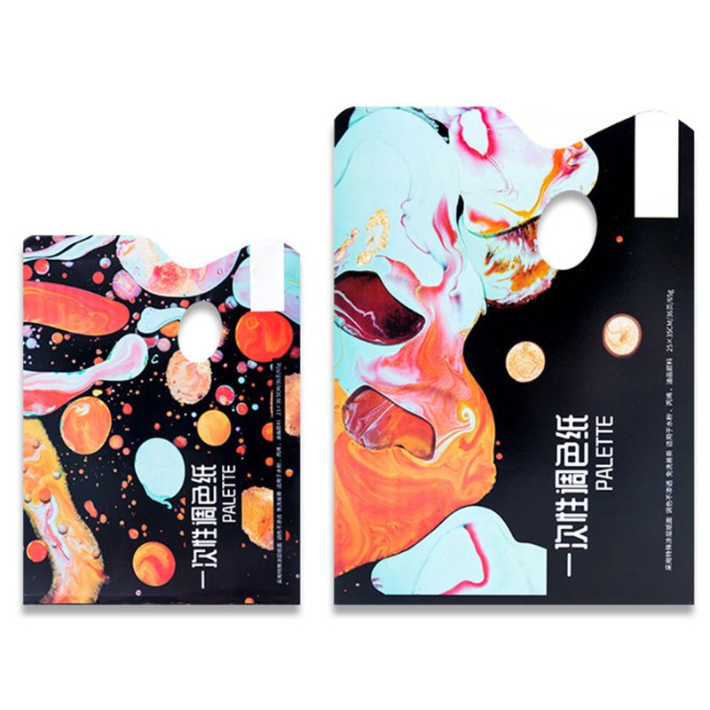 Pintura de Material de papel desechable lavable paleta de Color 36 hojas de papel de Color gouache acrílico tonificación #723
